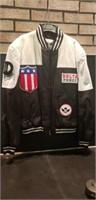 Mens leather Large alamos jacket