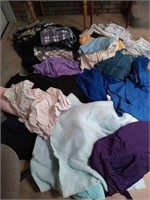 Estate lot of fleece,heavy,and misc fabric