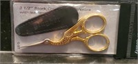 "Collectible Gingher 3.5"" Stork Embroidery Scissors"
