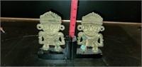 Vintage Aztec Style Monkey Bookends