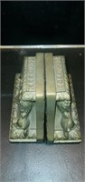 Pair of Chalkware Double Lion Bookends
