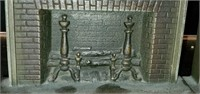Heavy Metal Pair of Fireplace Bookends