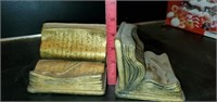 Pair of Heavy Toyo Open Book Bookends