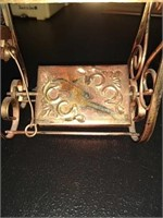 Vintage copper decorative music box