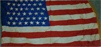 Large Vintage American Flag