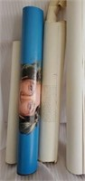Vintage lot of several posters