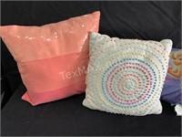 (3) Decorative Throw Pillows, (3) Bed Pillows