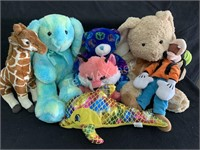 Large Lot Various Stuffed Animals