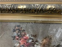 Floral Gold Framed Wall Decor