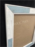 Blue and White Frame; No Glass