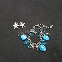 Earring and Bracelet Set