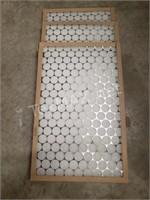 (3) 16x25x1 Air Filters