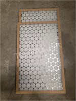 (2) 16x25x1 Air Filters