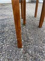 Danish Modern Ceramic Tile Top Teak Side Tables