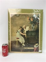 """VTG Munier """"The Music Lesson"""" Campbell Art Print"""