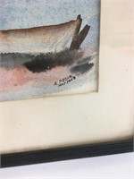 Vintage A. Pecar Original Water Color Painting