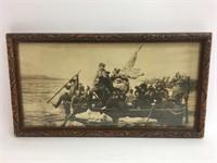 Vintage Washington Crossing the Delaware Art Print