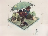 Vintage Norman Rockwell Fisherman's Paradise Print
