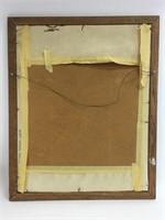 """Vintage Auguste Roder """"The Thinker"""" Stitch Art"""