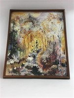 Vintage Original Abstract Oil Painting