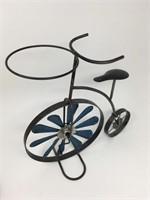Vintage Metal Bicycle Pinwheel Planter Holder