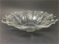 Vintage Etched Glass Bowl