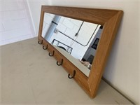 Wooden Stanley Coat Rack Mirror