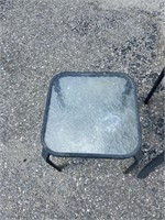 Patio Chair with Glass Table