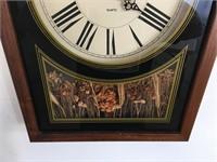 Vintage Kirsch Quartz Wall Clock w/ Dried Flowers