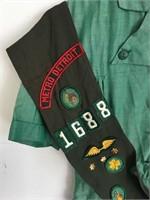 Vintage Detroit Girls Scouts Dress W/ Sash Patches