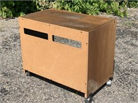 Realistic  Rolling Media Cabinet