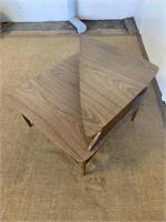 MCM Wooden Corner Table.