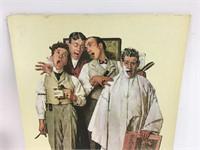 Vintage Norman Rockwell Barbershop Quartet Print