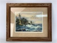 Framed Dulaya Memories Lighthouse Print