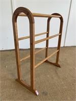 Vintage Wooden Quilt Rack