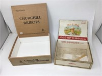 Churchill Rejects Faux Wood Cigar Box