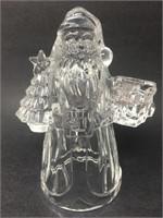 Crystal Santa Claus Candle Holder