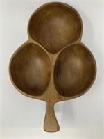 David Auld Haitian Wooden Acorn Bowl