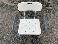 Guardian Plastic and Metal Adjustable Shower Chair