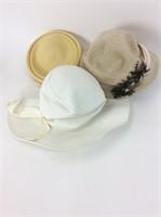 Vintage Hats-Lot of 3