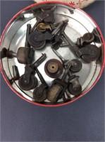 Vintage Wooden Coasters w/ tin