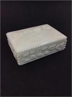 Vintage Milk Glass Jewelry Box