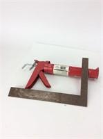 Caulking Gun and Square