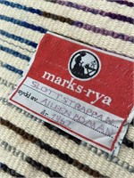 """VTG Marks-Rya 27"""" x 47"""" Shag Rug"""