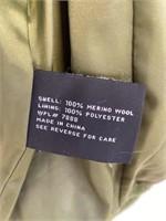 Anne Klein Coat Size 8 Merino Wool