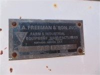 Freeman 8000 RS Cab Harrowbed
