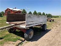 7'x12' wooden barge wagon