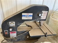 """4""""x12"""" band saw with Black & Decker workmate vise"""