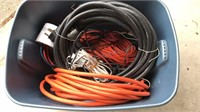 Tote with Heavy Duty Extension Cords
