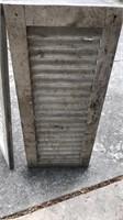 "2 Vintage Wood Shutters 34x14"""